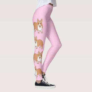 Leggings Le corgi modèle les guêtres des femmes rose-clair
