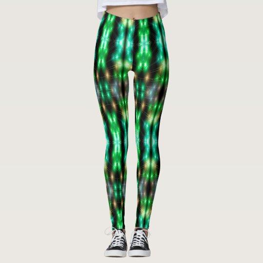 Leggings Le Fiber Optic (green)