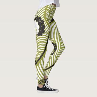 Leggings Le Japonais classique d'art de Styalized ondule #2
