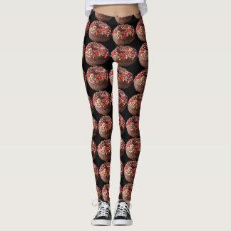 Leggings Le pantalon de yoga arrose des guêtres de beignet
