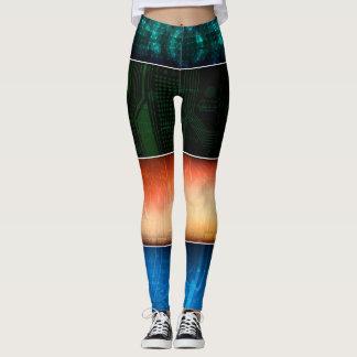 Leggings Le résumé barre coloré
