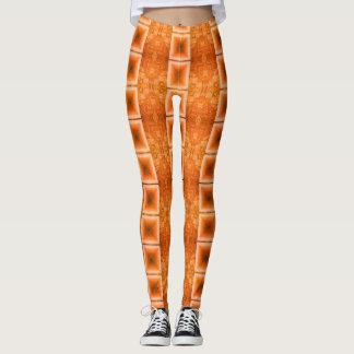 Leggings L'orange lumineuse barre des guêtres