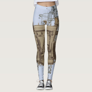 Leggings Model ROBOTIQUE MÉCANIQUE X de MOTEUR du WISCONSIN