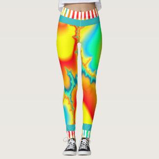 Leggings Moderne coloré de fractale psychédélique