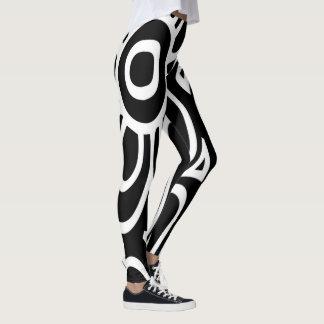 Leggings Motif abstrait noir et blanc