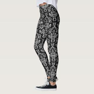 Leggings Motif assez noir et blanc de damassé