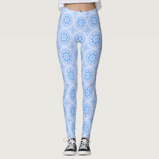 Leggings Motif bleu de kaléidoscope