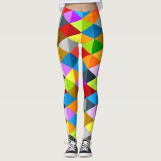 Leggings Motif coloré génial lumineux moderne de triangles