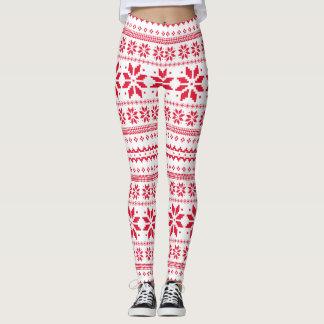 Leggings Motif d'art traditionnel de Noël