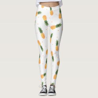 Leggings Motif de points tropical chic à la mode d'ananas
