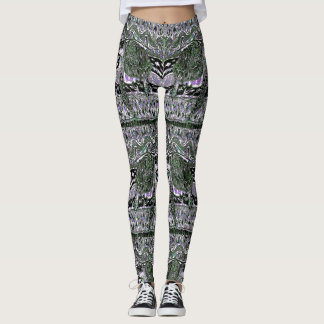 Leggings Motif de vague de tortue de mer