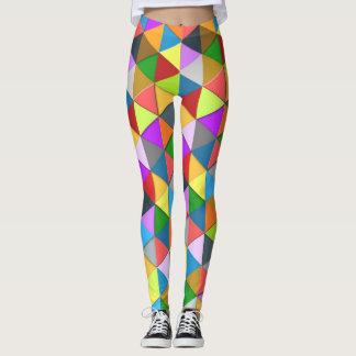 Leggings Motif en abondance géométrique coloré de triangle