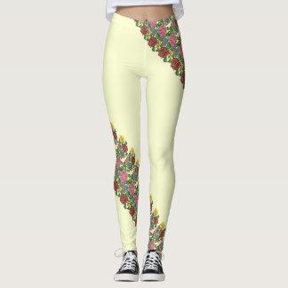 Leggings Motif floral hongrois no2