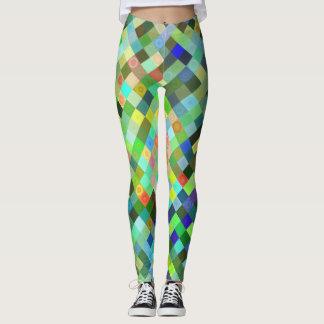 Leggings Motif multicolore de diamant