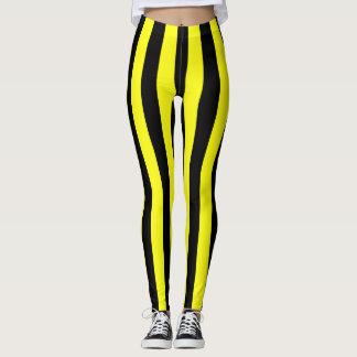 Leggings Motif rayé jaune et noir Coloured