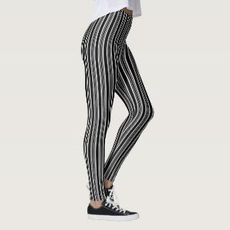 Leggings Motif rayé noir et blanc