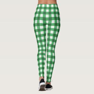 Leggings Motif vérifié par classique vert de guingan et