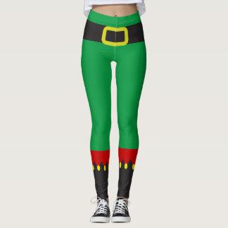 Leggings Nouveauté rouge verte mignonne de Noël d'Elf