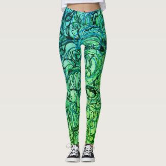 Leggings Pantalon abstrait de yoga
