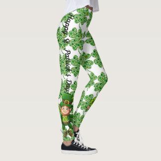 Leggings Pantalon CHANCEUX de lutin de guêtres du jour de