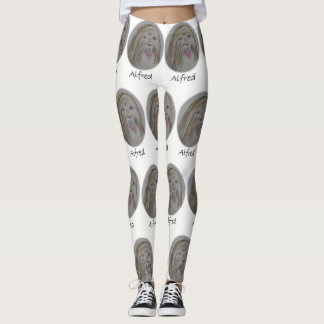 Leggings Pantalon de bout droit d'Alfred blanc