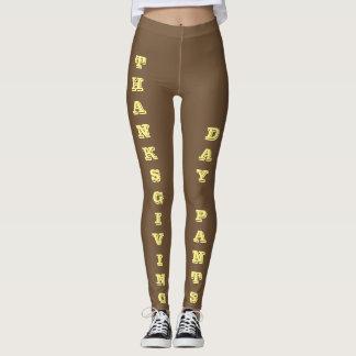 Leggings Pantalon de jour de thanksgiving