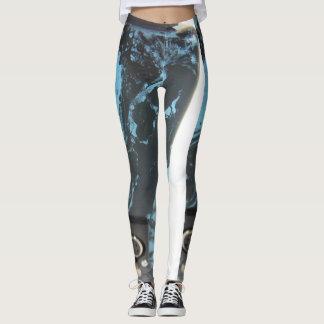 Leggings Pantalon de marbre de yoga de motif