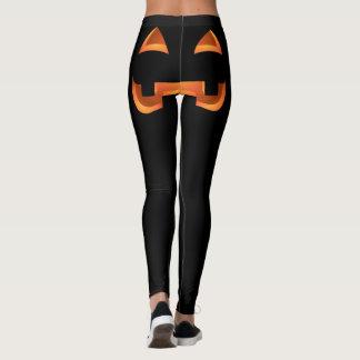 Leggings Pantalon extensible de citrouille drôle de guêtres
