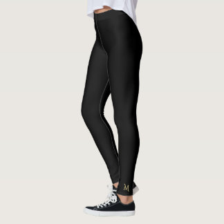 Leggings Pantalon noir simple solide de yoga de guêtres de