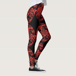 Leggings Papercut rouge chinois du coq 2017
