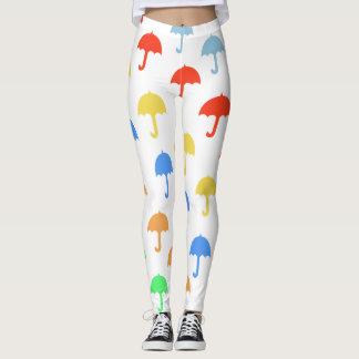 Leggings Parapluies de flottement abstraits