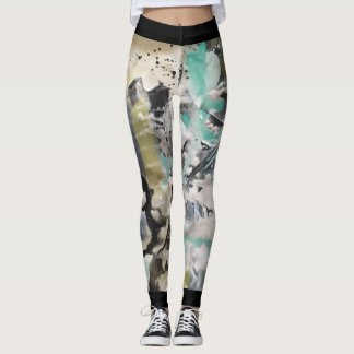 Leggings Peinture abstraite 5 de Marta