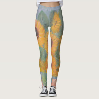 Leggings Peinture de tournesol de Loughlin