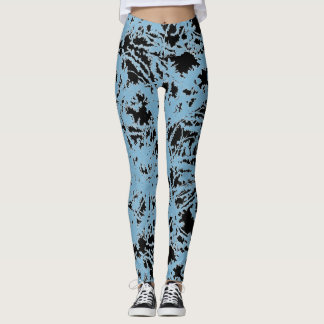 Leggings Peinture humide abstraite