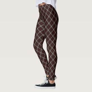 Leggings Petite diagonale grise rouge noire de plaid de