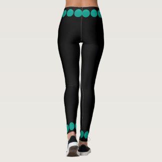 Leggings Points turquoises sur 4Tina noir