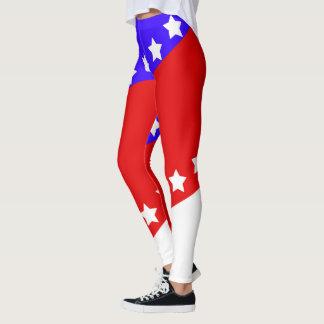 Leggings Quatrième patriotique de juillet