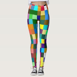 Leggings Rétro motif #15 de carrés de couleur