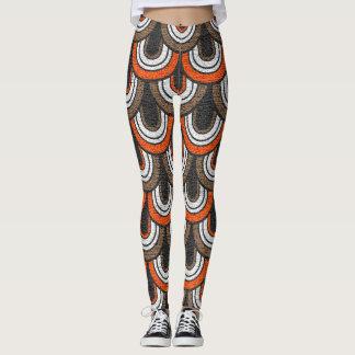 Leggings Rétro motif #2 d'années '50 de couleur
