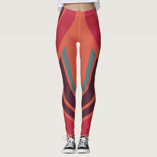 Leggings Rétro motif #3 d'années '50 de couleur