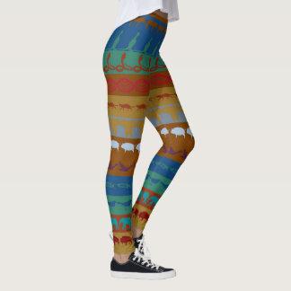 Leggings Rétro motif coloré #6 d'animaux