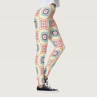 Leggings Rétros guêtres colorées de motif