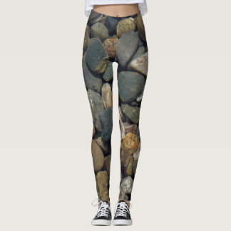 Leggings Roches en gros plan et pierres de photo de motif