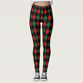 Leggings Rouge classique, vert et blanc de ~ à motifs de