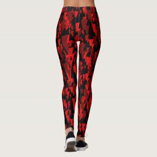 Leggings rouge/obscurité denny de camo