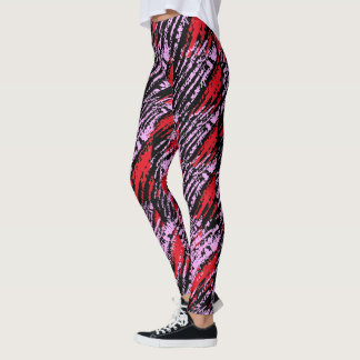 Leggings rouge-rose