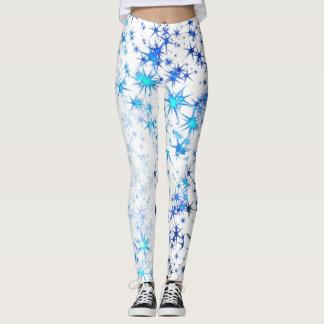 Leggings Starburst bleu