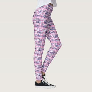 Leggings Tartan de plaid de style de patchwork de Madras de
