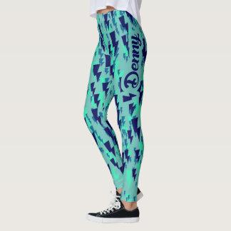 Leggings vert denny de camo/blue2