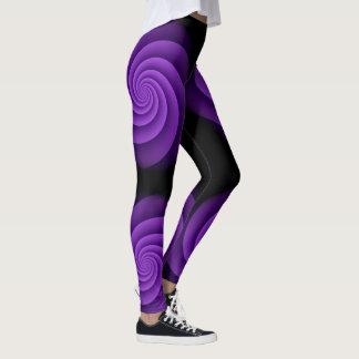 Leggings Violette de spirale de puissance d'arrière - plan